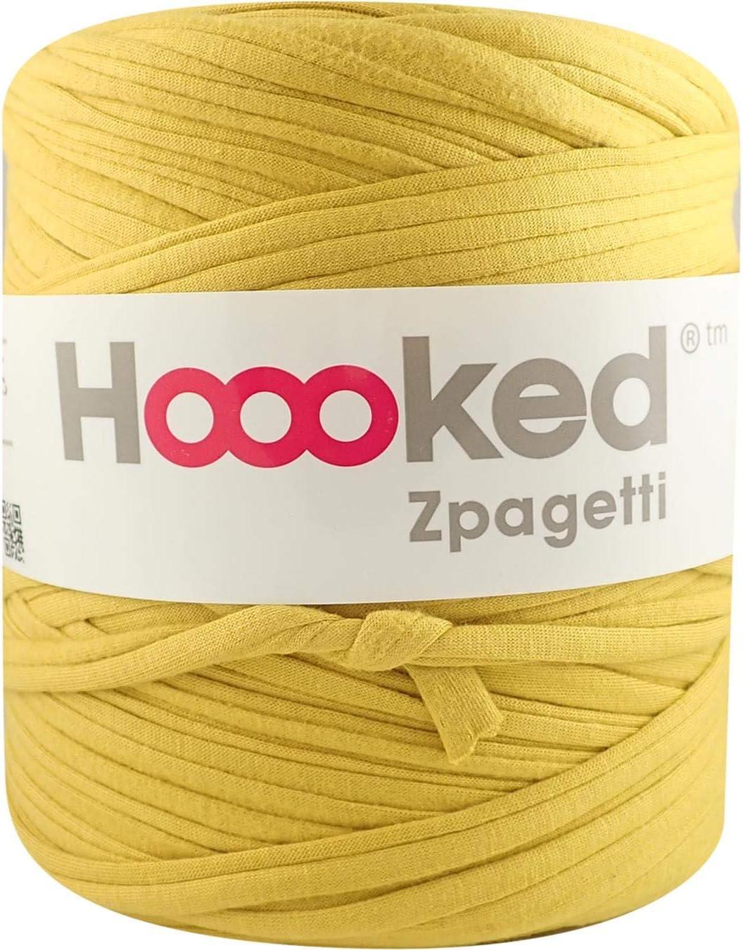 Hoooked Zpagetti Recycled T-shirt Yarn 120m Yellow Shade Crochet Knitting