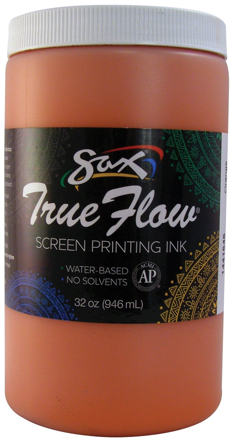 Sax 1441646 True Flow Non-Flammable Screen Printing Ink, 1-Quart, Orange