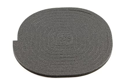 Universal Junta Asiento Vitrocerámica, Espuma, Negro, 15 x 14 x 1 cm