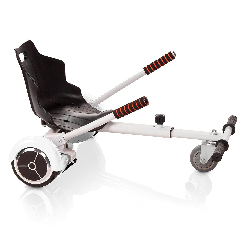 Tango - Sedile Hover Kart Accessorio per Hoverboard Auto Bilanciato Compatibile con Scooter Elettrico 6.5e 10, Blu