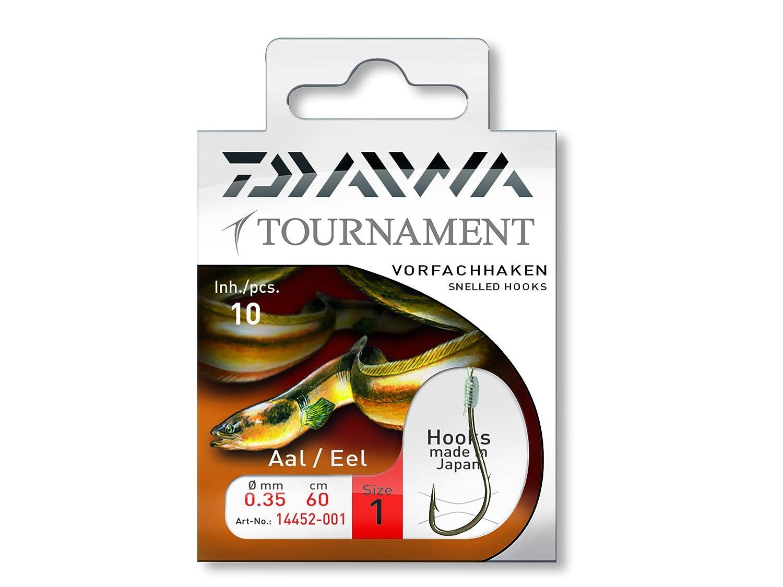 Daiwa Tournament Aalhaken Vorfachhaken 60cm 10Stk.
