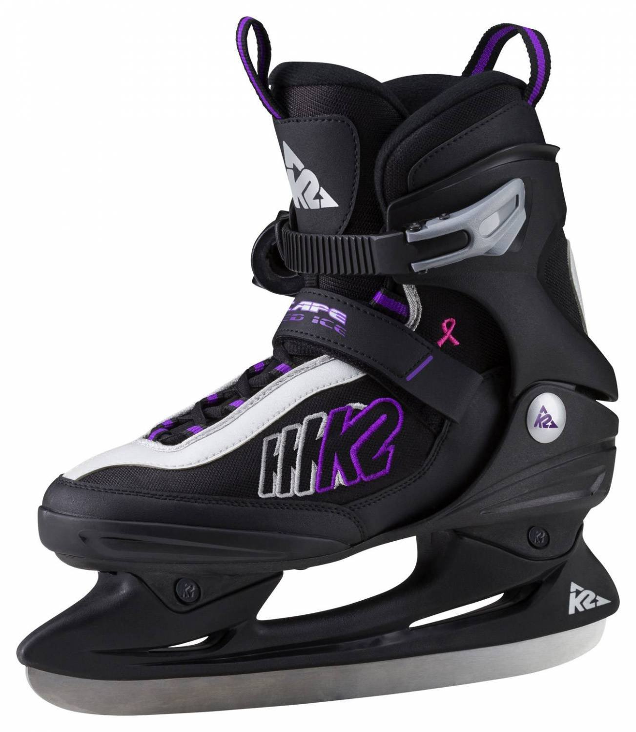 K2 Speed Ice Women's Ice Hockey Boots - Complete Escape W 10.5 Ice Skates - Black, 10.5