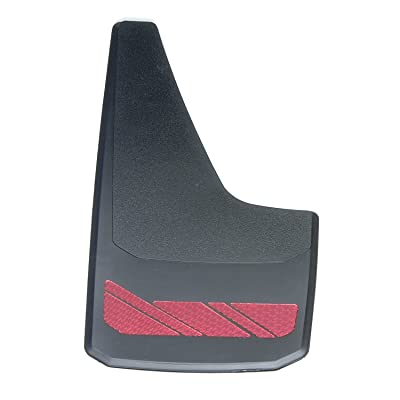 "RoadSport 4766 'B' Series Universal Fit Premiere Splash Guard (Black with Red Prism; 15-3/4"" Height x 8-7/8"" Wide): Automotive"