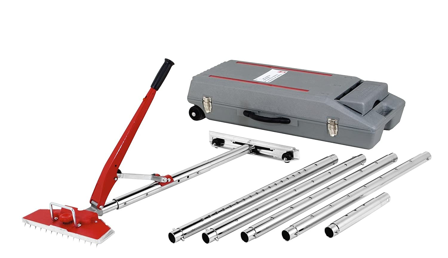 carpet stretcher. roberts model 10-254 23-1/2-feet power-lok carpet stretcher with of stretching length including wheeled carrying case - amazon.com r