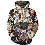 bettydom Teen's Novelty 3D Hoodies My Hero Academia Boku No Hero Academia Sweatshirt
