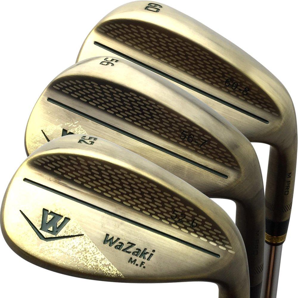 Japan Wazaki Copper Finish M Pro Forged Soft Iron USGA R A rules of Golf Club Wedge Set(pack of three)