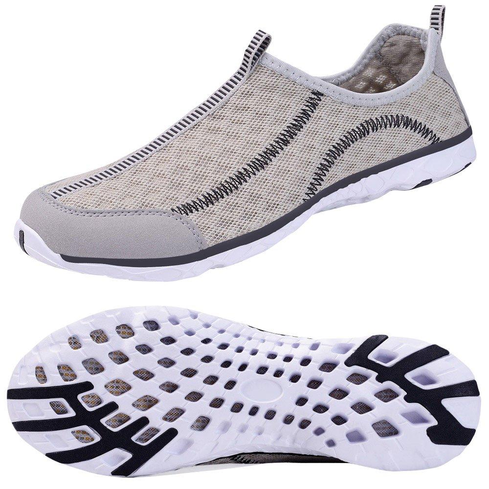 Kanlanlo Men's Lightweight Mesh Slip On Water Shoes Quick Drying Aqua Shoes Outdoor Beach Sneakers