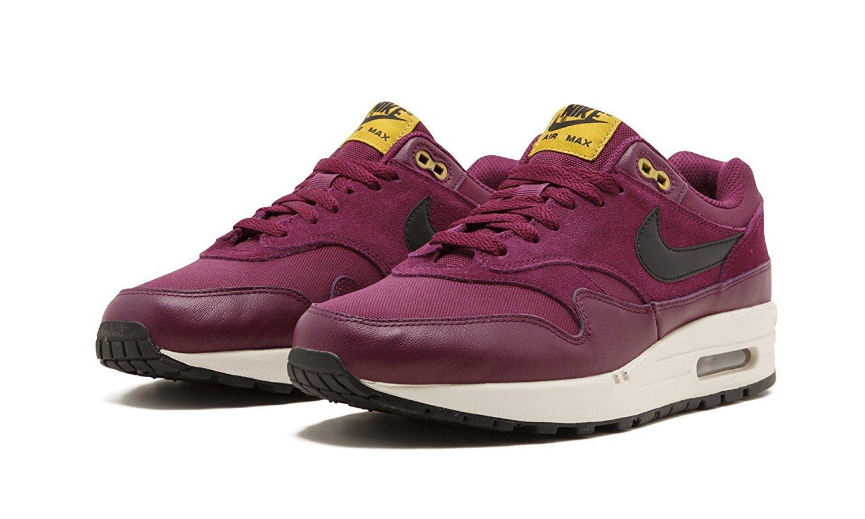 sports shoes a1eea 53487 Galleon - NIKE Air Max 1 Premium Mens Running-Shoes 875844 (11 D(M) US,  Bordeaux Desert Moss Black Black)