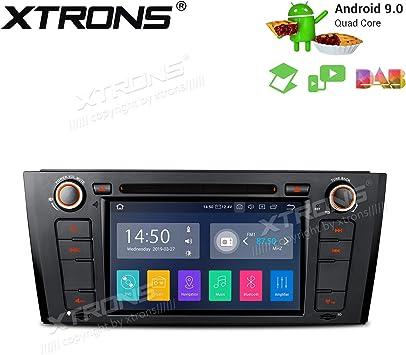 XTRONS Android 9.0 Reproductor de DVD estéreo para Coche, Pantalla táctil de 7 Pulgadas, Unidad de navegación GPS, Soporte Completo RCA Bluetooth5.0 ...