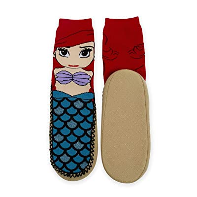 Ariel The Mermaid Slipper Socks with Grippers: Shoes