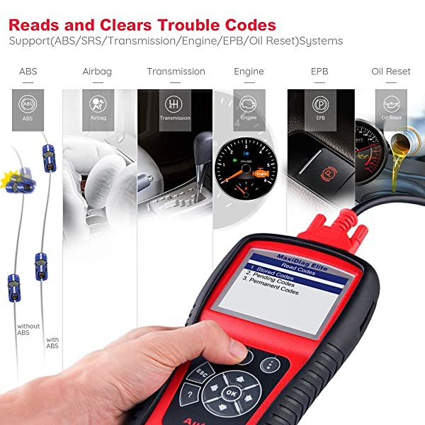 It comes with your standard SRS and ABD code reader functions.