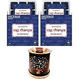 Aromafume Nag Champa Incense Bricks & Tree of Life Incense Burner