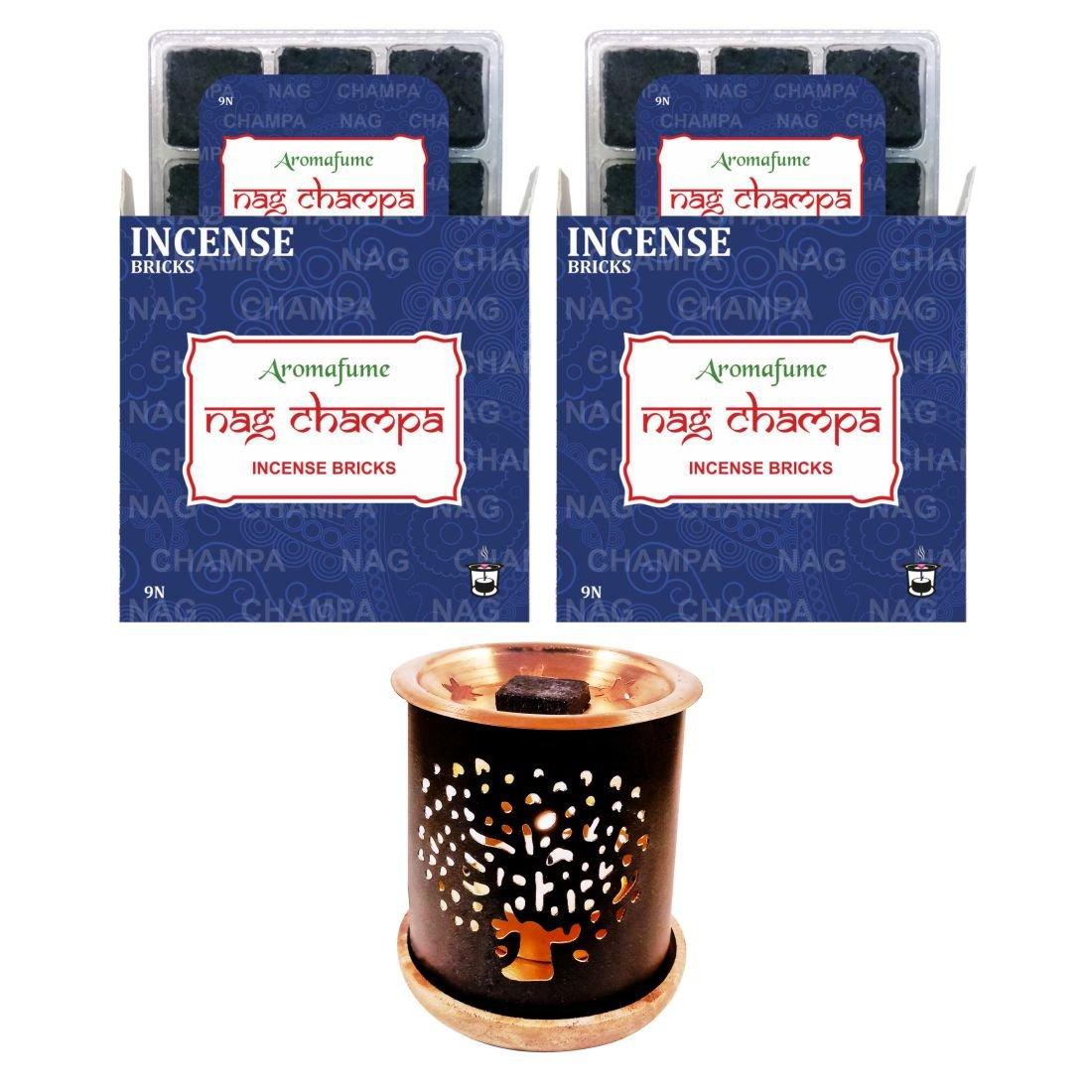 通販 aromafume Nag Champa Incense Bricks Incense & Tree Champa of Life Life Incense Burner B07DCNHGLV, ミタケチョウ:f441b1fe --- egreensolutions.ca