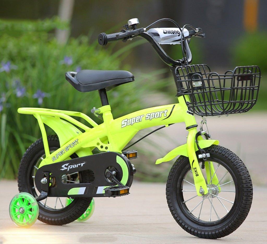 子供用自転車、グリーンオプションのフラッシュアシストホイールリアシートケトル高炭素鋼ボディ丈夫で安全な子供用に設計された2-10 88-121CM (色 : D, サイズ さいず : 121CM) B07D5YWXCN 121CM D D 121CM