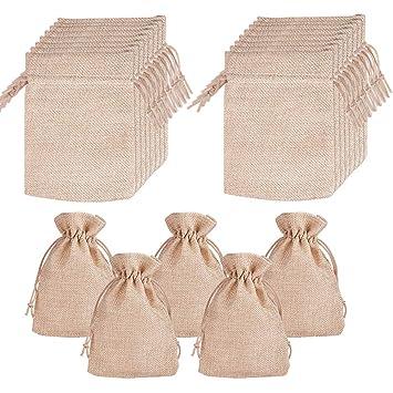 20 bolsas de arpillera con cordón para regalo, bolsas de ...