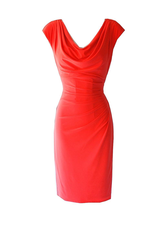 Ralph Lauren Cowl Neck Sheath Cocktail Knee Lenght Dress Sz 14