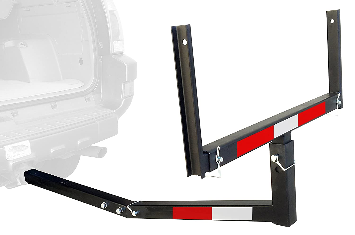 MaxxHaul 70231 Hitch Mount Truck Bed Extender (for Ladder, Rack, Canoe, Kayak, Long Pipes and Lumber)