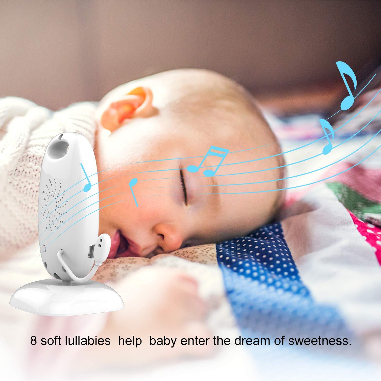 Schlaflieder mit Temperatursensor Nachtsicht kabelloses Babyphone 601 Babyphone Zwei-Wege-Gespr/äch digitaler Intercom-Baby-Videomonitor mit LCD-Bildschirm
