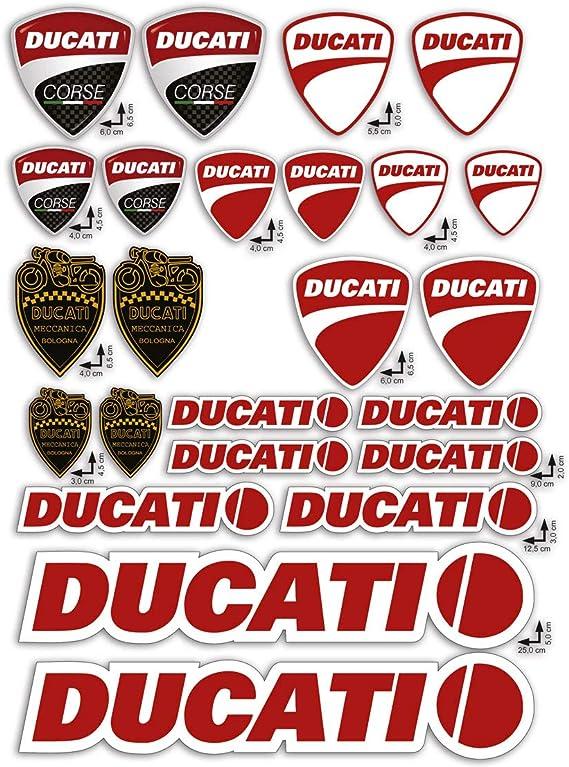 GamesMonkey Stickers Pegatinas Set Ducati Corse Logo Panel Entero 24pz Oferta Motor Casco Moto /…