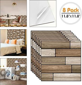 "Peel /& Stick Self Adhesive Wall Backsplash Tile 11.8/""x11.8/"""