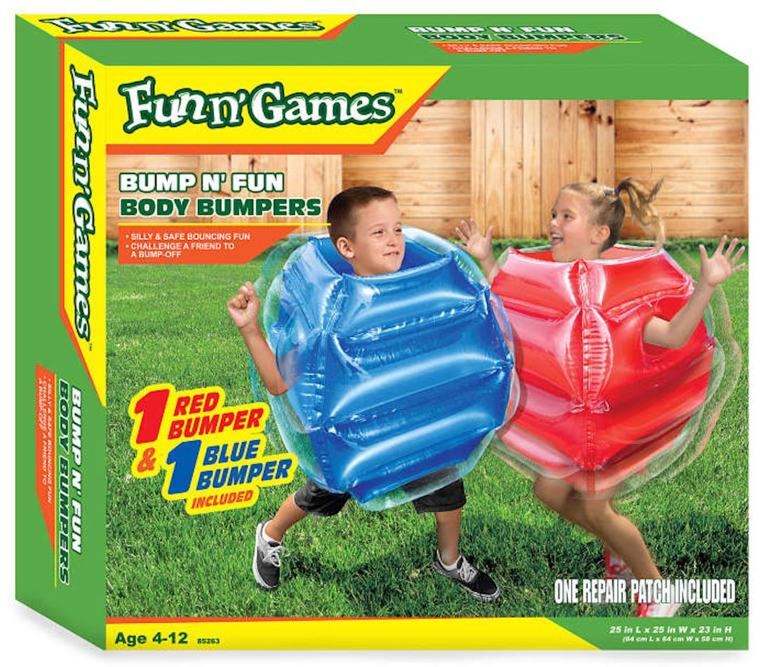 Fun n' Games Bump N' Bounce Body Bumpers, Inflatable 2-Pack, Children ages 4-12