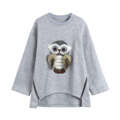 68709e89f000 Girls Winter Long Sleeve Tops T-Shirt