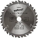 Wolfcraft 6730000 1 Kreissägeblatt HM, 18 Zähne, ø 130 mm