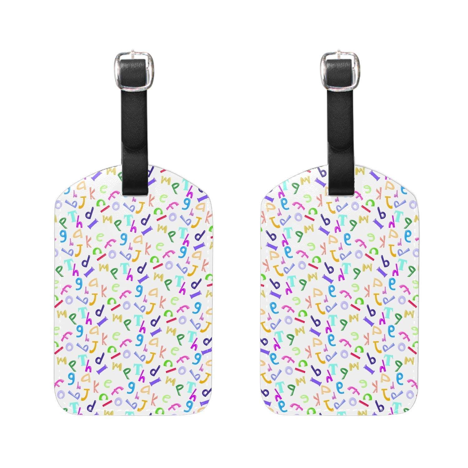 Brown Head Beagle Print Luggage Identifiers with Strap Closure