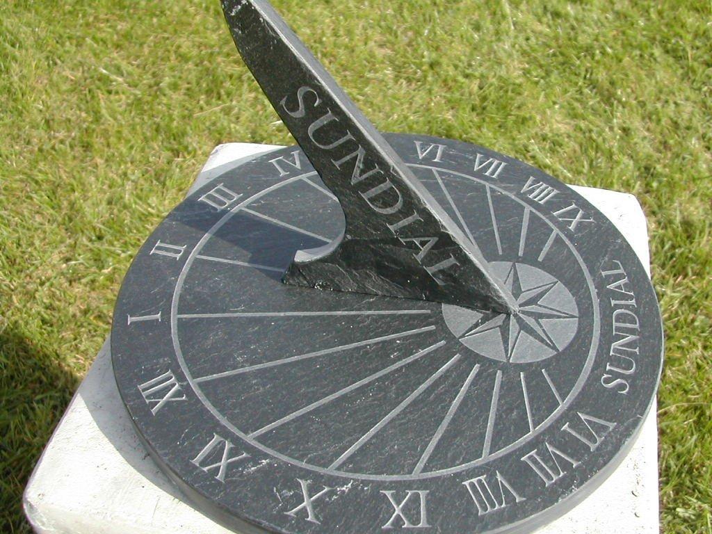 Large Round Slate Sundial by NAUTICALMART