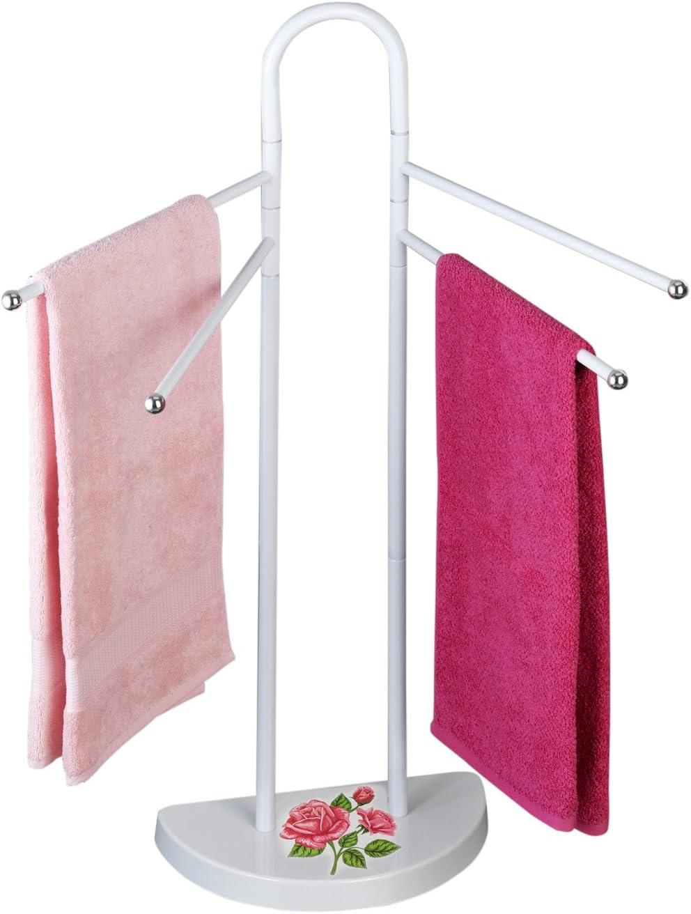 Multicolor Wenko 76231500/ /Perchero /Toallero de Rosas romanticismo/ Acero 18/x 33/x 94/cm