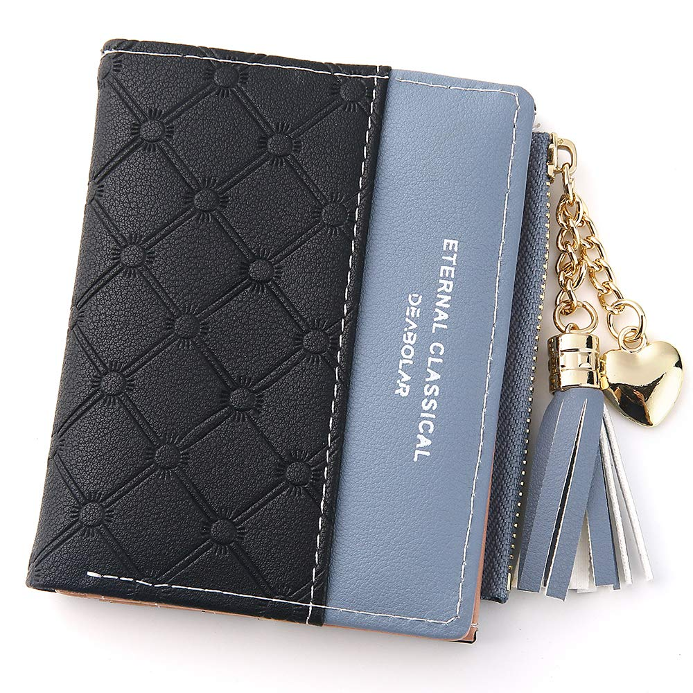 Wallet for Women Small Compact Wallet Bifold RFID Wallet Credit Card Holder Mini Bifold Pocket Wallet