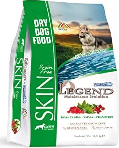 Forza10 Legend Sensitive Skin Dog Food, Grain Free Dry Dog Food with Curative Herbs, Premium Quality Wild Caught Anchovy Flavor, for Adult Dogs, Pack of 1