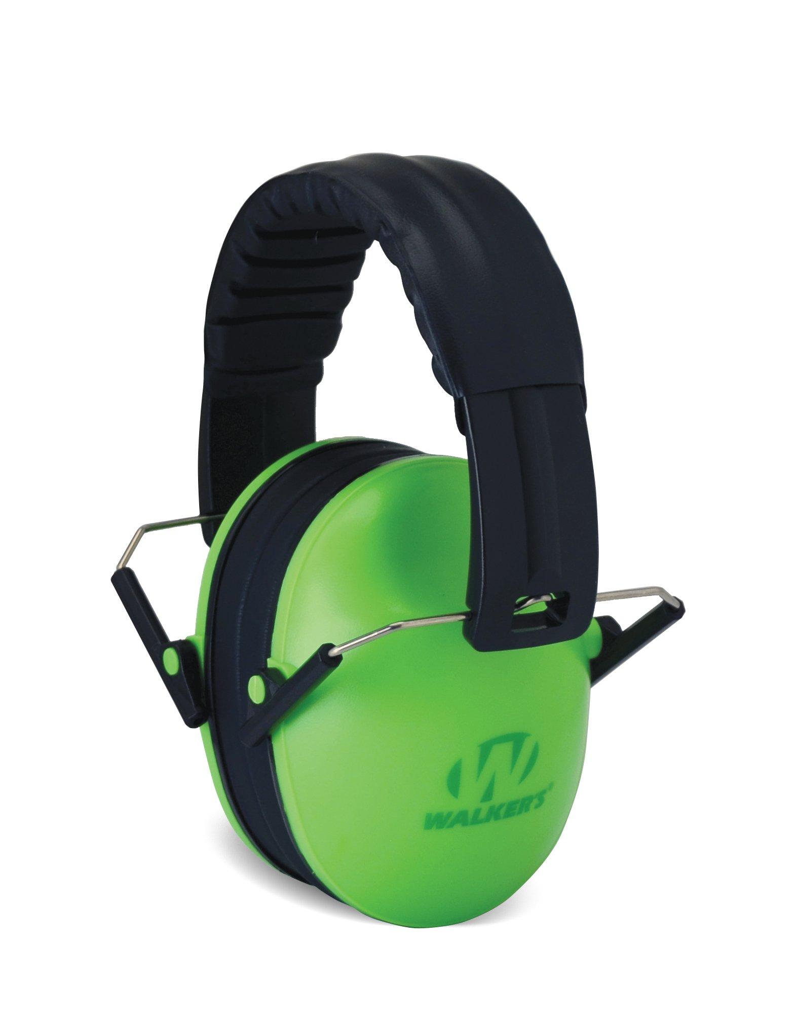 Walker's Children-Baby & Kids Hearing Protection/Folding Ear Muff, Lime Green by Walker's Game Ear