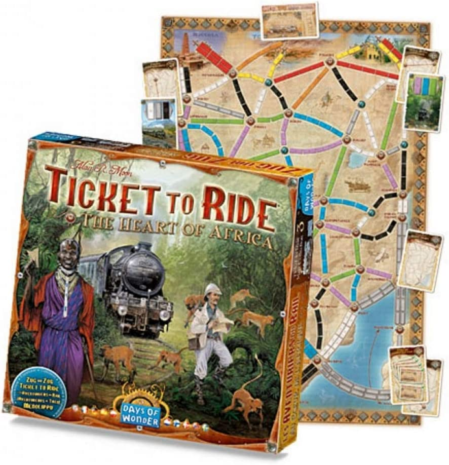 Image result for ticket to ride heart of africa
