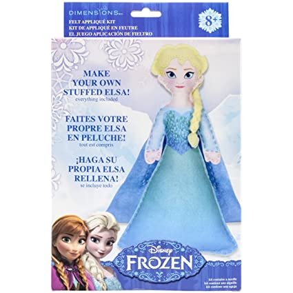 Brand New Elsa Frozen Stuffable Felt Applique Kit- Brand New