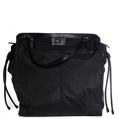 39b6ce0ac2dc BURBERRY Buckleigh Black Nylon Packable Tote  Handbags  Amazon.com