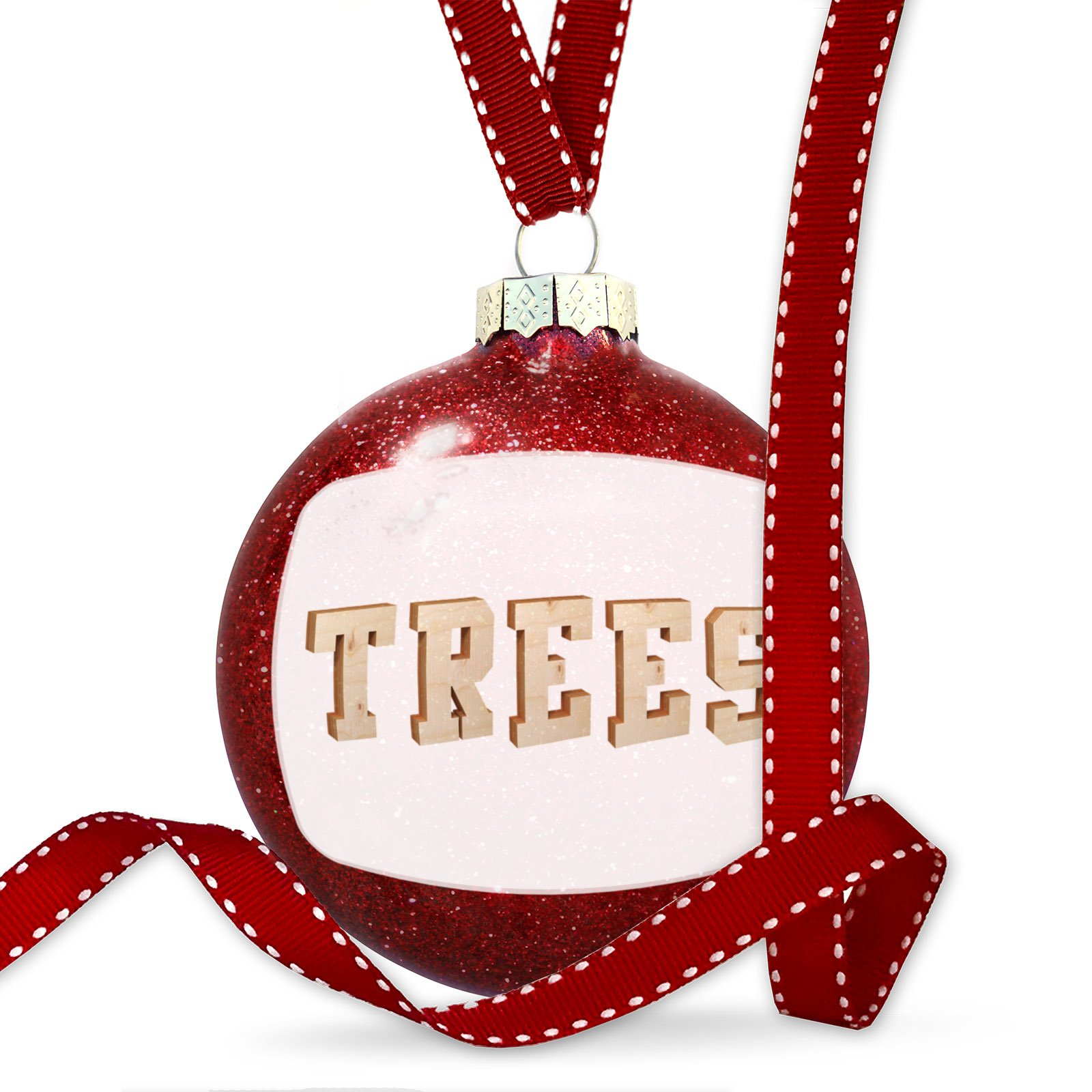 Christmas Decoration Trees Plywood wood Lettering Ornament