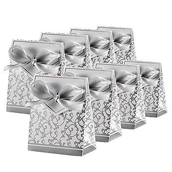 Amazon.com: 50/100 cajas de papel para caramelos con cinta ...