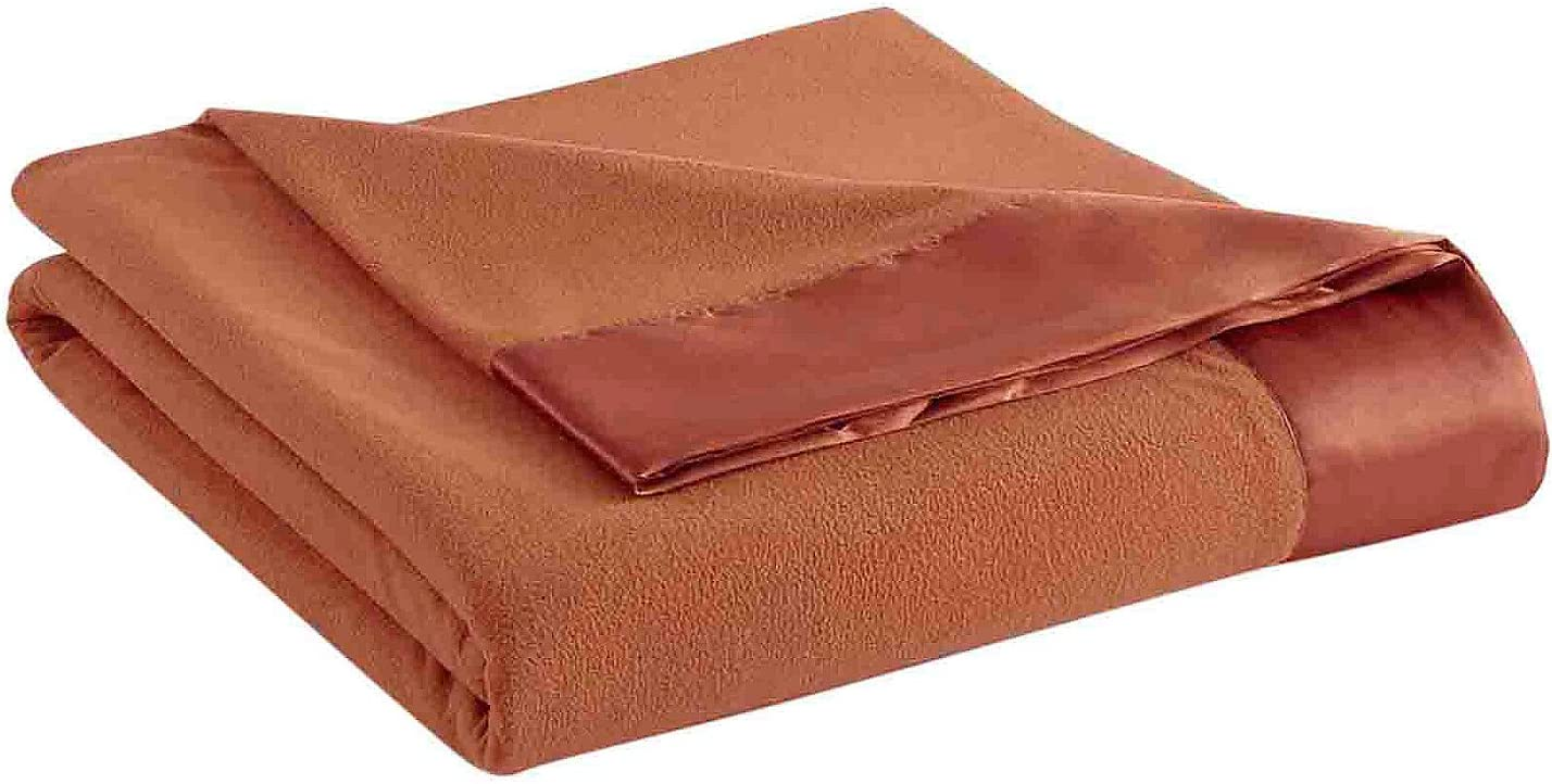 Shavel Home Products Micro Flannel Solid All Seasons Sheet Blanket Spice King Blanket