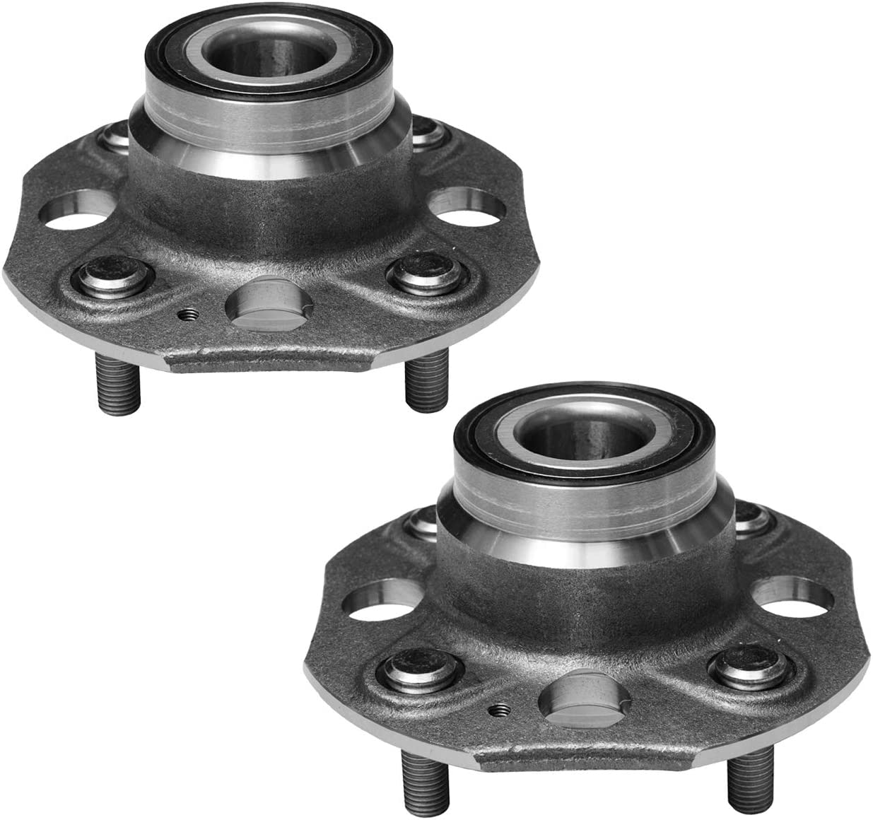 4 Lug Non-ABS TUCAREST 512176 x2 L4 2.3L;Rear Break:Drum Only Pair Rear Wheel Bearing and Hub Assembly Compatible With 1998 1999 2000 2001 2002 Honda Accord