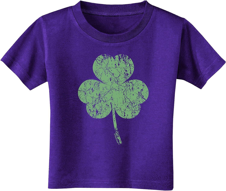 TooLoud Distressed Traditional Irish Shamrock Infant T-Shirt Dark