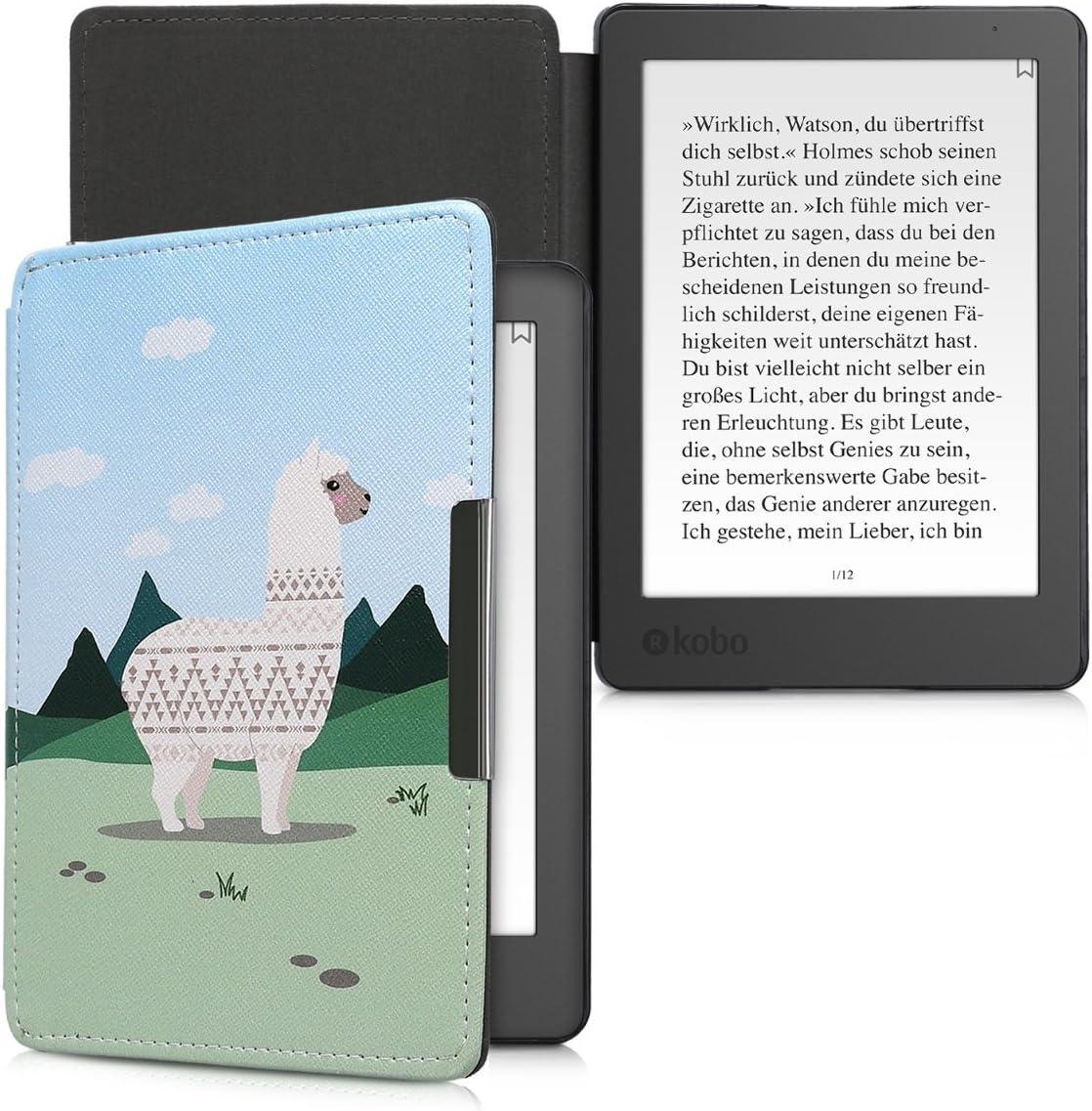 kwmobile Funda para Kobo Aura Edition 2 Case con dise/ño de Olas Carcasa para e-Reader de Cuero sint/ético