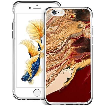 Amazon.com: iPhone 6S 6 Funda, diseño de mármol zttrade ...
