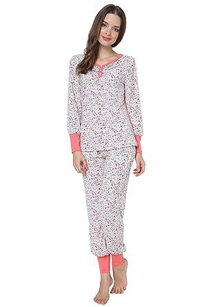 f6767fdd1 Godsen Women s Sweet Pajama Sets Multicolor Two-piece Pajama Set (US-S