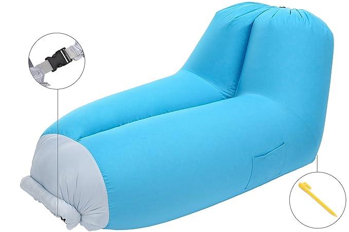 Amazon.com: Bertte - Sofá hinchable con respaldo ajustable ...