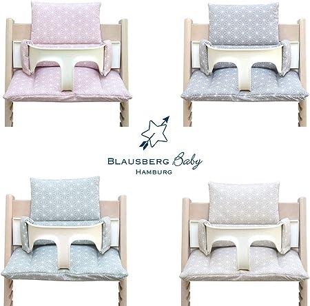 Blausberg Baby - Juego de cojines Tripp Trapp de alta calidad para trona Stokke - 2 piezas de cojines/cojín reductor de asiento para trona infantil - varios colores (Happy Star verde)