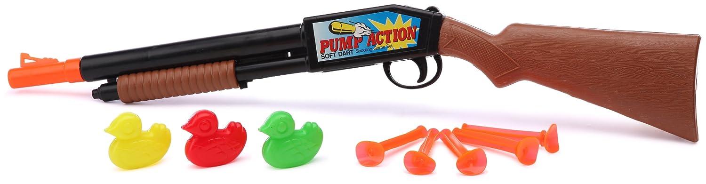 Kim'Play 69 - Rifle de aire comprimido con dardos de ventosa y patos de plástico Kim' Play