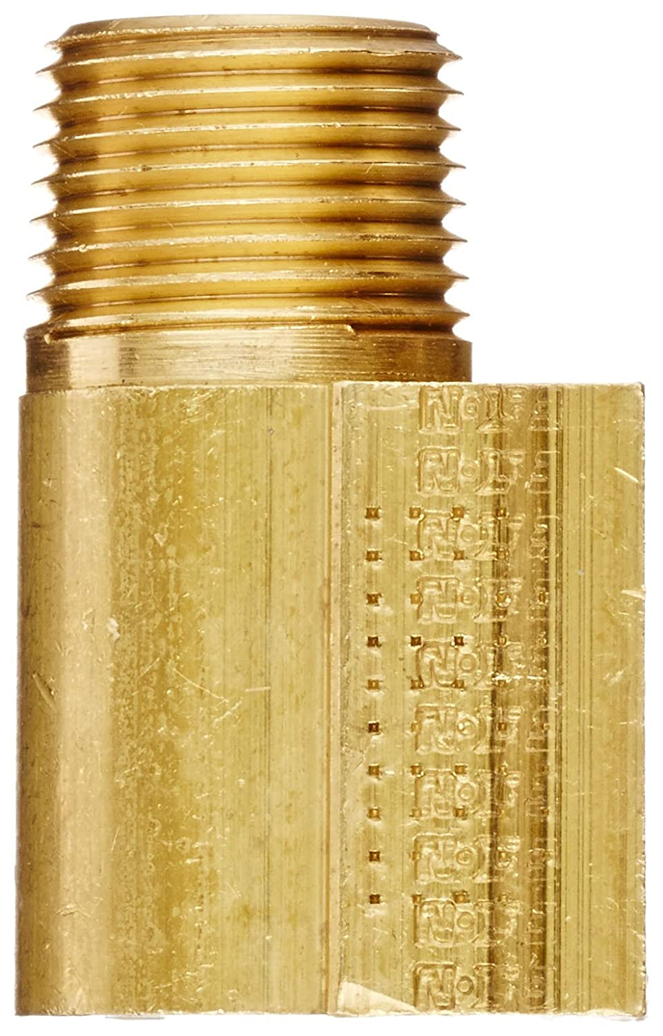 90 Degree Elbow Eaton Weatherhead 402X8 Brass CA360 Inverted Flare Brass Fitting 3//8 NPT Male x 1//2 Tube OD