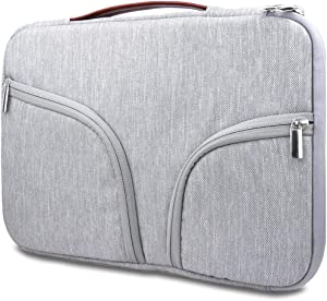 HESTECH Chromebook Case, 11.6-12.5 inch Laptop Sleeve Case Bag Handle Front Pockets Compatible with Acer Chromebook r11/HP Stream/Samsung Chromebook/MacBook air 11/ Surface Pro3/Pro4, Gray