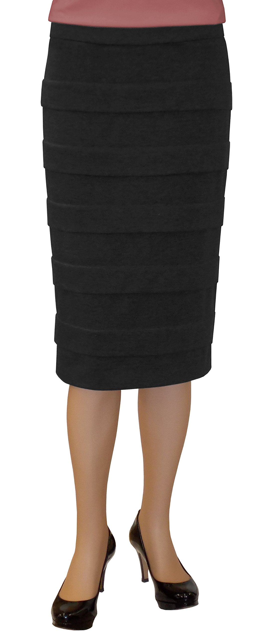 Baby'O Clothing Co. Women's Banded Pencil Skirt Black Size 4